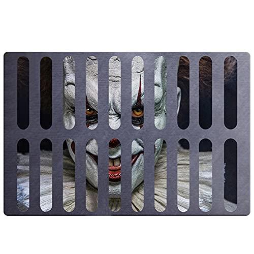 Zerbino con Illusione di Vortice Halloween Decor 3D Sewer Bolohole Copertura Horror Home Carpet Pagliaccio Trappola Visual Tappeto Visual Soggiorno Camera da letto Piano Tappetino per la casa Decor