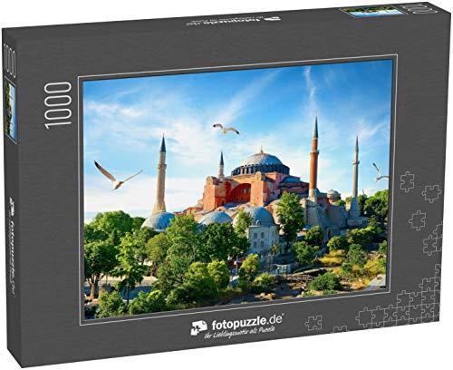 Puzzle 1000 Teile Hagia Sophia im Sommer Istanbul bei Sonnenschein, Türkei - Klassische Puzzle, 1000/200/2000 Teile, in edler Motiv-Schachtel, Fotopuzzle-Kollektion 'Türkei'