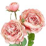 season's need decor silk peony artificial flowers for wedding diy centerpiece floral arrangement 31-inch long flower stem, pack of 3 peony fake flower bouquet – beauty