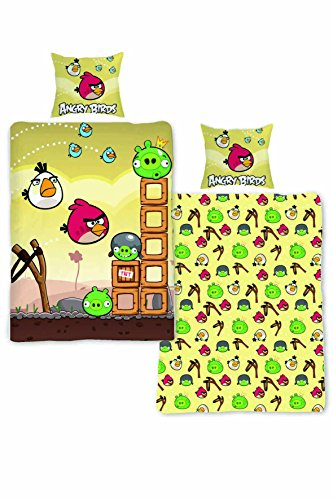 Parure da letto Angry Birds – Copripiumino singolo in cotone