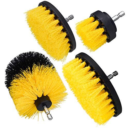Deson 4 Piezas Kit Cepillo Taladro Multifuncional, Drill Brush Cepillo de limpieza...