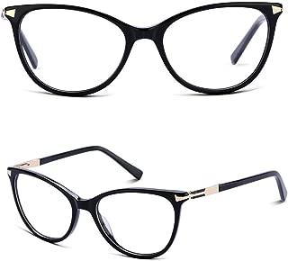 Non Prescription Glasses Eyeglass Frames for Women, Cat Eye Glasses Frames with Clear Lens, Designer Handmade.