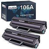 OfficeWorld 106A Toner Patronen Kompatible für HP 106A W1106A Tonerkartuschen für HP Laser MFP 135wg 135ag 137fwg 137fnw 135a 135r 135w HP Laser 107w 107a 107r (2 Schwarz, mit Chip)