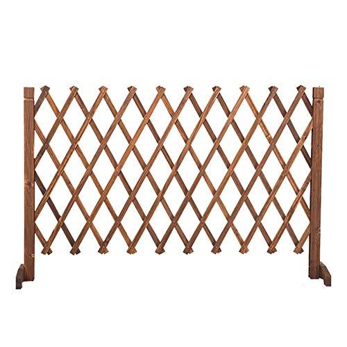Erweiterender Zaun, dicker Holzgarten Gitter, Kletterpflanze wachsender Support-Bildschirm, verwendet for Home-Partition und Dekoration (Size : H120)