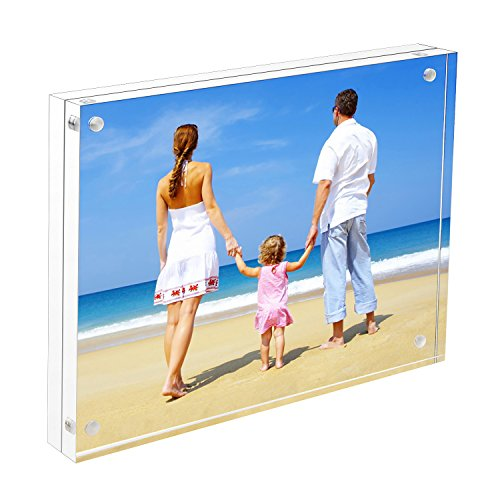 8x10 Acrylic Frame, NIUBEE Double Sided Magnetic Photo Frames with Gift Box Package Double Picture Frame Magnet