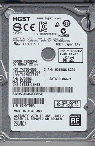 500GB Hitachi Travelstar 7K750 2.5-inch SATA Hard Disk Drive (7200rpm, 16MB cache)