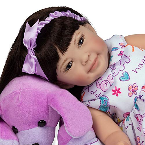 Paradise Galleries Reborn Toddler Doll - Children's Day, Full Vinyl Limbs, 16 inches, GentleTouch Vinyl, Weighted Body, 5-Piece Doll Reborn Doll Set