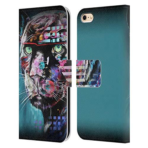 Head Case Designs Licenza Ufficiale Graeme Stevenson Puma Nero Vita Selvaggia Colorata Cover in Pelle a Portafoglio Compatibile con Apple iPhone 6 / iPhone 6s