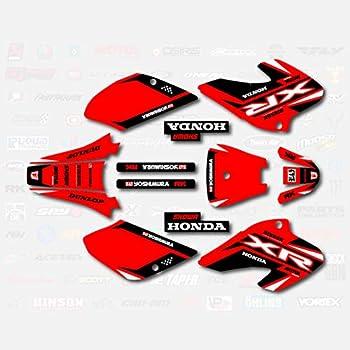 XR80 Xr100 Red & Black Shift Racing Graphics fit 2001-2003 Honda XR 80 100 01-03
