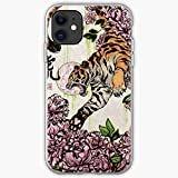 Eastern Chinese Tiger Flower Asian Zodiac Peony Peonies | Phone Case for iPhone 11, iPhone 11 Pro, iPhone XR, iPhone 7/8 / SE 2020