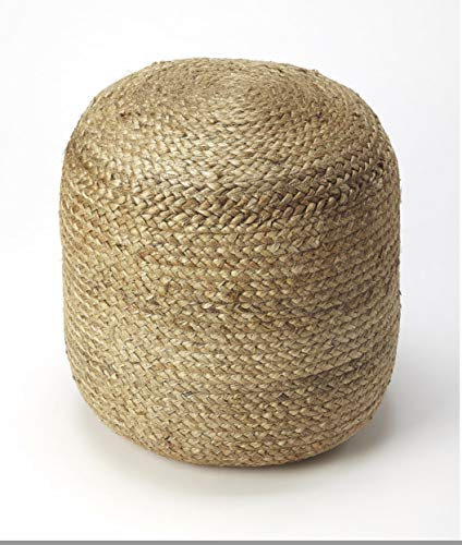 Fernish Décor Signature Design Jute Braided Pouf Hand Woven Ottoman Traditional Style Comfy Chair...