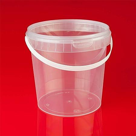 Trendfinding Seau en plastique transparent de 12 x 1 l avec couvercle