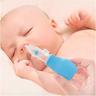 Baby Nasal Aspirator Safe Nose Cleaner for Babies with 2 Replaceable Mucus Suction Heads, Blue