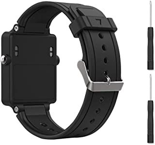 Bossblue Replacement Band for Garmin Vivoactive, Silicone Replacement Fitness Bands Wristbands with Metal Clasps for Garmin vivoactive GPS Smart Watch