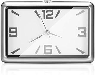 Winbang Auto Armaturenbrett Uhr, Auto Uhren Quarzuhr Schöne Auto Dekoration Uhr Ornamente Mini Stick On Style (Weiß)