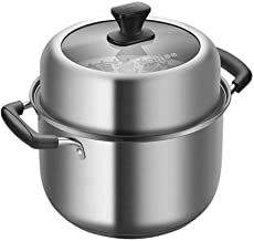 JLCK Soup Pot 22cm Double-layer Steamer Soup Pot Dual-use 304 Stainless Steel Soup Steamer Multi-function Soup Pot With St...