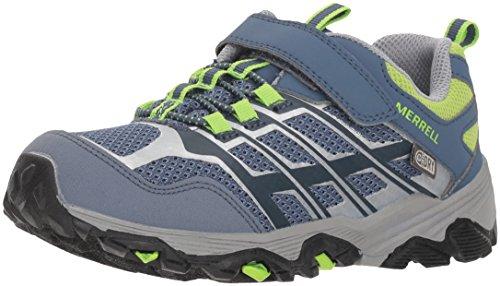 Merrell Moab FST Low A/C WTRPF, Chaussures de Randonnée Basses Mixte Enfant, Gris (Grey/Green), 32 EU