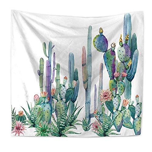 XURANFANG tropische planten Musa Farn bladeren tapijt, wandbehang wandschilderij deken slaapkamer decoratief gordijn doek stofschilderen, 150x200 cm, D