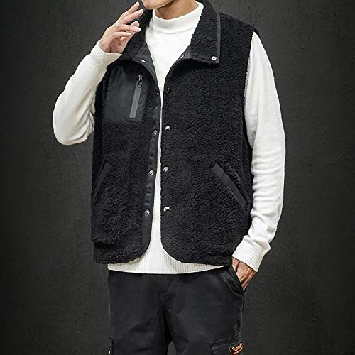 Onbekend fleece jack mouwen heren vest zwart herfst hip hop modieuze losse street casual winter-leger plus size jas polyester