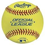 Rawlings Optic Yellow Practice Baseballs, 12 Count, ROLB1