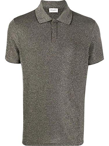 Saint Laurent Luxury Fashion Heren 597023YBOD21314 Zilver Poloshirt | Lente Zomer 20