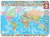 Educa Borras - Genuine Puzzles, Puzzle 1.500 piezas, Mapamundi político (18500)
