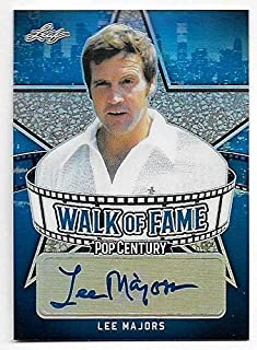 2018 Pop Century Metal Walk Of Fame Prismatic Blue Lee Majors Autograph #50/50
