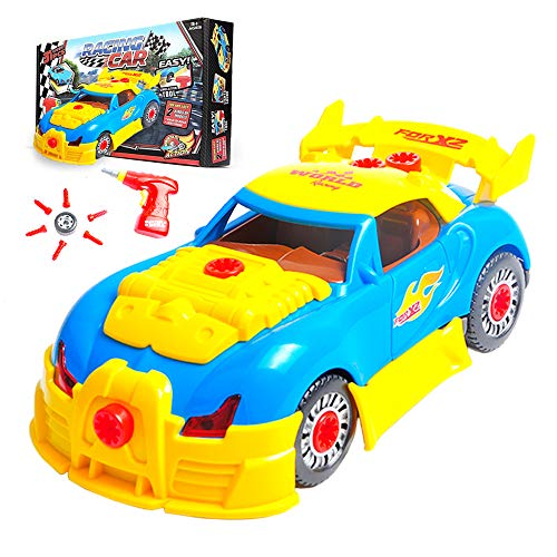 Take Apart Toy Racing Car for Toddlers, Build A Car Kit for Mini Mechanics,...