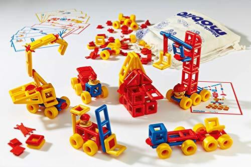Plasticant Mobilo Konstruktions-Set I, 192 Teile - Kreatives Konstruktionsspielzeug made in Germany - bauen, spielen, lernen für Kinder 3 - 8 Jahre