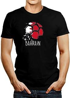 Idakoos Bahrain Soccer Ball Flag T-Shirt