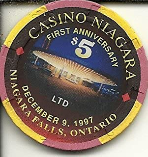 $5 casino niagara first anniversary 1997 casino chip niagara falls ontario canada