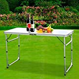 Aromdeeshopping 3FT L X 2FT W Folding Table Portable Outdoor Picnic Party Dining Camp Tables