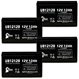4 Pack Replacement for X-Treme XB-508 Battery - Replacement UB12120 Universal...