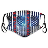 Respirador de pinball de la bandera americana de los hombres y las mujeres con correas