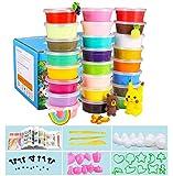 Aorula 24 Colores Air Dry Clay, Arcilla de Modelado Ultraligero, Magic Clay Artist Studio Toy, Arcilla y Masa de Modelado no tóxico, Arte Creativo DIY Crafts, Regalo para niños (24 Colores)