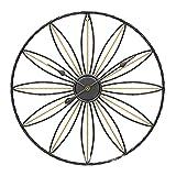 HALASCP Reloj de Pared Decorativo Grande 20/24 Pulgadas Reloj Industrial Europeo Vintage Reloj de Pared de Metal Redondo silencioso sin tictac para Sala de Estar Oficina en casa,Negro,24 Inch