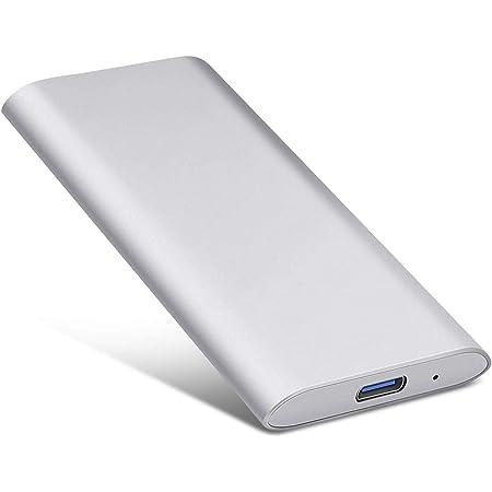 2TB External Hard Drive 2TB-Silver Portable Hard Drive External Type-C//USB 2.0 HDD for Mac Laptop PC
