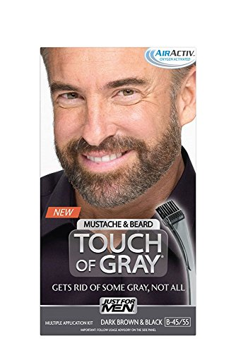 Price comparison product image Just for Men Touch of Gray Mustache and Beard Color,  Dark Brown & Black