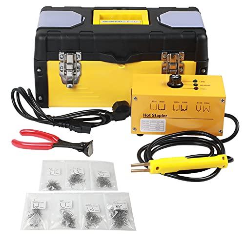 BELEY - Kit de soldadura de plástico para reparación de parachoques de coche, grapadora en caliente de plástico de 220 V con 700 grapas