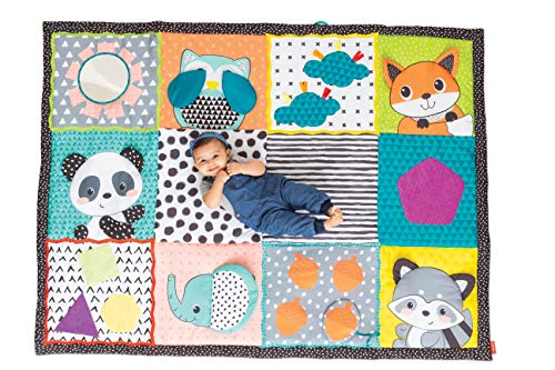 Infantino- Big playmat for Babies Fold & Go Giant Discovery Mat, Colore, 313000