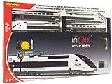 Mehano- Coffret de Train électrique TGV Inoui Set di Treni elettrici, Colore Blanc, Gris, Violet, Noir, 607 x 370 x 54 CM, T871