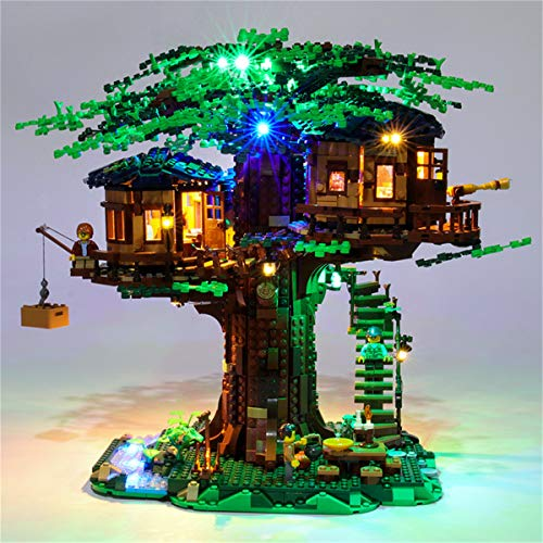 Conjunto De Luces Led Para Lego Ideas La Casa Del áRbol, Compatible Con El Modelo De Bloques De ConstruccióN De Juguetes Lego 21318 (No Incluido El Modelo)