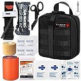 BUSIO Kit de Primeros Auxilios tácticos de Emergencia-MOLLE Admin Pouch IFAK-Vendaje para...