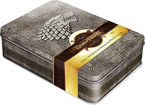 Game of Thrones - Winter is Coming: Schmuckdose inkl. Notizbuch mit Motiven des House Stark, Kartoniert