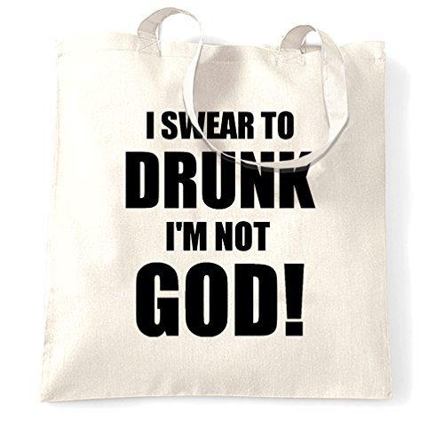Ik zweer bij God ik ben niet dronken alcoholische drinken Cool Slogan drank wijn bier drank wodka alkie geïntoxiceerd winkelen Tote Bag door Valentine Herty
