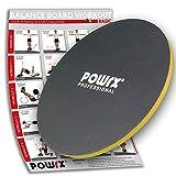POWRX Balance Board Legno - Ideale per Esercizi di propriocettività, Fisioterapia e Fitness - Superficie Antiscivolo + PDF Workout (50 cm)
