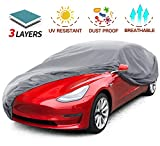 Leadpro Car Cover, 3 Layer Weather Defender UV Protection Scratch Resistant Dustproof, Uni...