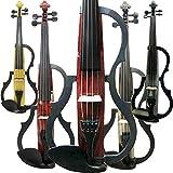 Leeche Handmade Silent Electric Violin 4/4 Full Size Professional Student Violin For Beginner