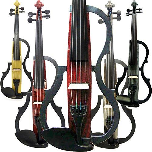 leeche hecho a mano Silencioso violín eléctrico 4/4tamaño completo profesional de estudiante violín para principiantes madera maciza violín Kit cuerda, resto del hombro, colofonia, SDDS-E604