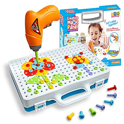 SHAWE 3D Take Apart Toy for 3 4 5 Years Old Boys– Creative Construction Toy Kit – Puzzles Assembly DIY Play Toy Set with Storage Box